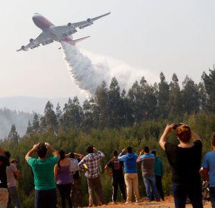 Conaf hace crítica evaluación del rendimiento del Supertanker en combate de incendios forestales