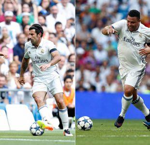 [VIDEO] Ronaldo y Figo se roban aplausos en clásico de leyendas entre Real Madrid y Roma