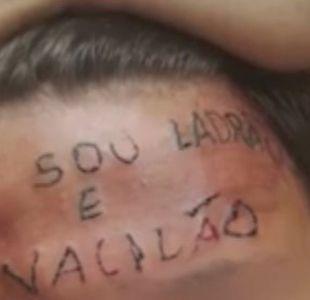 El adolescente brasileño al que le tatuaron soy un ladrón en la frente por supuesto robo