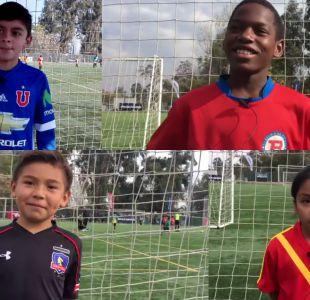 """[VIDEO] Niños del fútbol joven envían especiales mensajes a """"La Roja"""" de cara a Copa Confederaciones"""