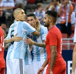 Jorge Sampaoli consigue su segundo triunfo con Argentina aplastando a Singapur