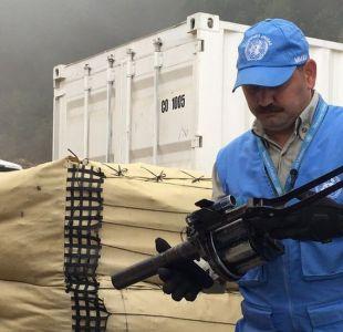 Colombia: las primeras fotos de las armas de las FARC en manos de la ONU