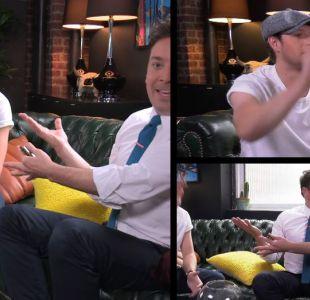 [VIDEO] Niall Horan y Jimmy Fallon desafiados a improvisar canciones con títulos hechos por los fans