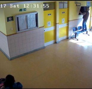[VIDEO] Se roban televisor desde la sala de espera de un consultorio