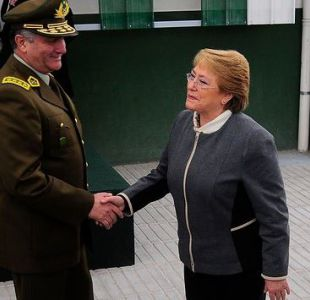 Fraude en Carabineros: Bachelet reitera respaldo absoluto a general Villalobos