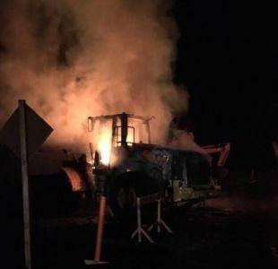 Araucanía: nuevo ataque incendiario afecta a constructora
