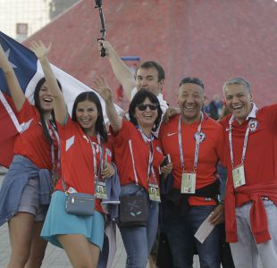 [VIDEO] Hinchas chilenos en Moscú: La Plaza Roja se convirtió en Plaza Italia
