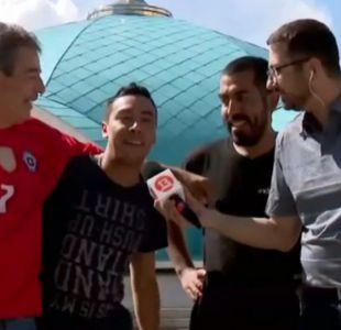 "[VIDEO] Hinchas chilenos llegan a Kazán para duelo de ""La Roja"" ante Alemania"