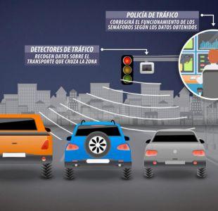 [VIDEO] Semáforos inteligentes en Santiago buscan agilizar el tránsito