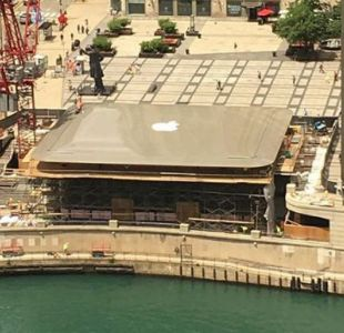 La nueva tienda de Apple de Chicago tiene un Macbook como techo