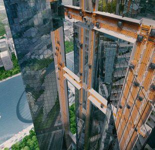 Cómo funciona el primer ascensor sin cables del mundo capaz de desplazarse en horizontal y vertical