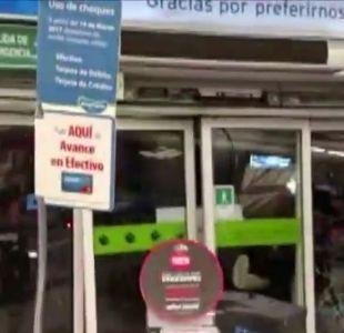 [VIDEO] Turbazo en supermercado deja a un guardia herido