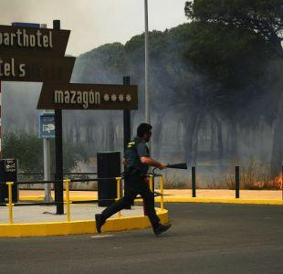 Incendio en parque de España no ha logrado ser controlado