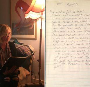 El avance del Alzheimer plasmado en un diario: Mi mente está llena de agujeros