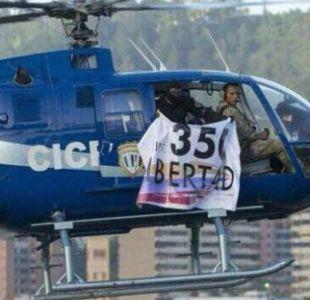 350 libertad: qué significa el cartel del helicóptero que atacó el TSJ de Venezuela