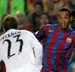 Qué tuvo que ver David Beckham en la llegada de Ronaldinho al Barcelona