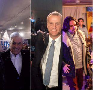 Así fueron los cierres de campaña de Chile Vamos y del Frente Amplio
