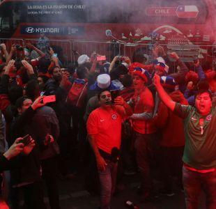 [VIDEO] El efusivo banderazo de los hinchas a La Roja en San Petersburgo