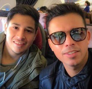 Luis Pedraza junto a su fallecido hermano, Diego
