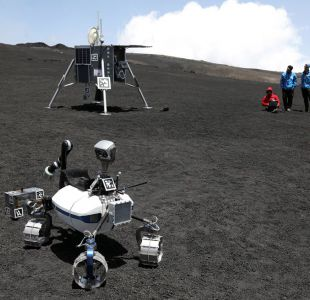 Prueban robots lunares en el monte Etna