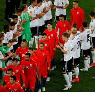 [VIDEO] Gigantes aún en la derrota: El pasillo de honor de La Roja en la final con Alemania