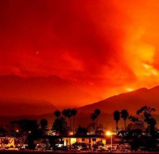 Las impresionantes imágenes de un incendio forestal en California