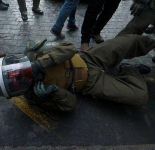 [FOTOS] Detenidos y un carabinero herido dejan incidentes al paso del Bus de la Libertad