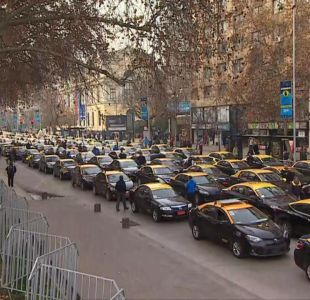 [VIDEO] Taxistas logran la mayor convocatoria a la fecha en protesta contra Uber