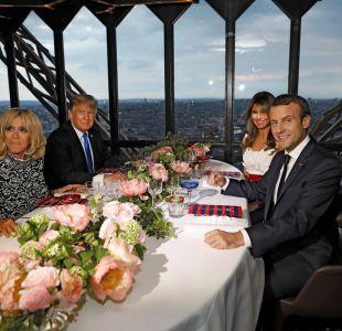 Los Macron y los Trump cenan en París.