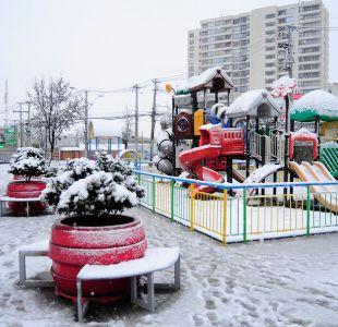 [FOTOS] La sorprendente nevazón en distintos puntos de Santiago