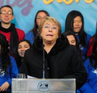 Bachelet pide agilizar tramitación de cambios al Sename: Es un imperativo de justicia y equidad