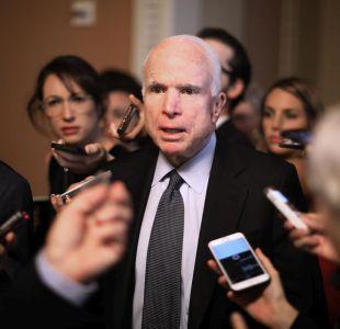 Senador estadounidense John McCain es diagnosticado con cáncer cerebral