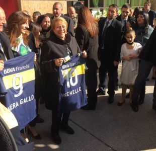 Presidenta Michelle Bachelet se convierte en nueva socia honoraria de Boca Juniors