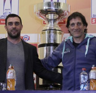 [FOTOS] Guede y Salas anticiparon la final de la Supercopa Chile por Canal 13