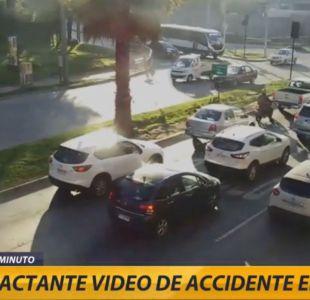 [VIDEO] El impactante registro del accidente en Viña del Mar
