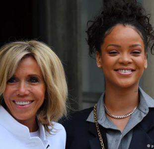 Los Macron recibe a Rihanna por su labor humanitaria