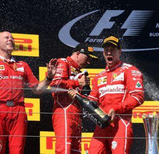 Sebastian Vettel junto a Ferrari gana Gran Premio de Hungría de Fórmula 1