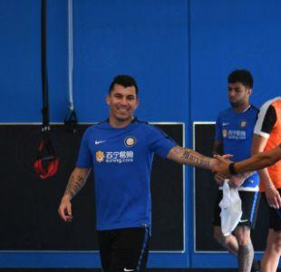 Gary Medel se unió a los trabajos de pretemporada junto al Inter de Milán