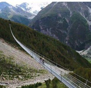 [VIDEO] Suiza: Las espectaculares vistas del puente colgante peatonal más largo del mundo