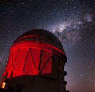 El telescopio Blanco y la Vía Láctea...