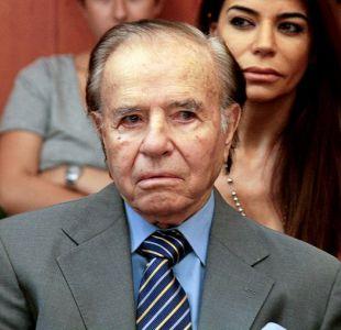 Justicia argentina autoriza a Carlos Menem a viajar a Chile por operación de su hijo Máximo