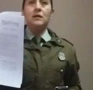 [VIDEO] Carabineros sanciona a funcionaria que denunció prohibición para amamantar
