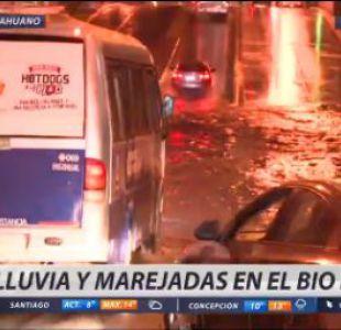 [VIDEO] Lluvias inundan ruta entre Talcahuano y Concepción