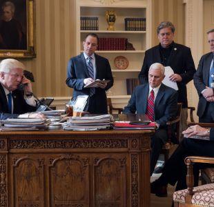La foto que ilustra los tumultuosos meses que Donald Trump lleva en la Casa Blanca