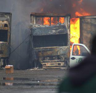 Gobierno presentará querella por quema de camiones en La Araucanía