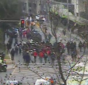 Desórdenes marcan marcha estudiantil en centro de Santiago