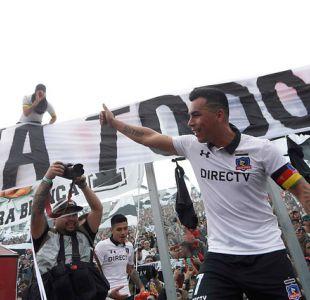 [FOTOS] El festejo de Esteban Paredes con los hinchas tras ganar el Superclásico