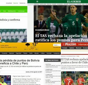 [FOTOS] La reacción en Bolivia al fallo del TAS que confirmó puntos a Chile y Perú