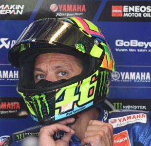Motociclismo: Valentino Rossi se lesiona en un entrenamiento y podría sufrir una fractura