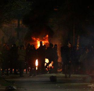 [FOTOS] Barricadas en Villa Francia marcan un nuevo 11 de septiembre